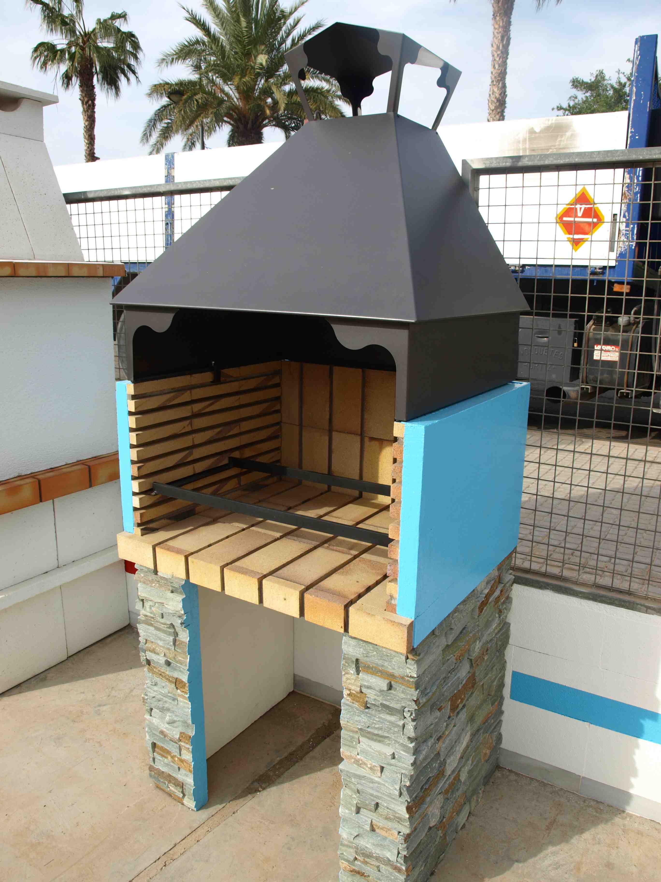 Personalizar un paellero barbacoa chimeneas s nchez - Barbacoas de piedra natural ...