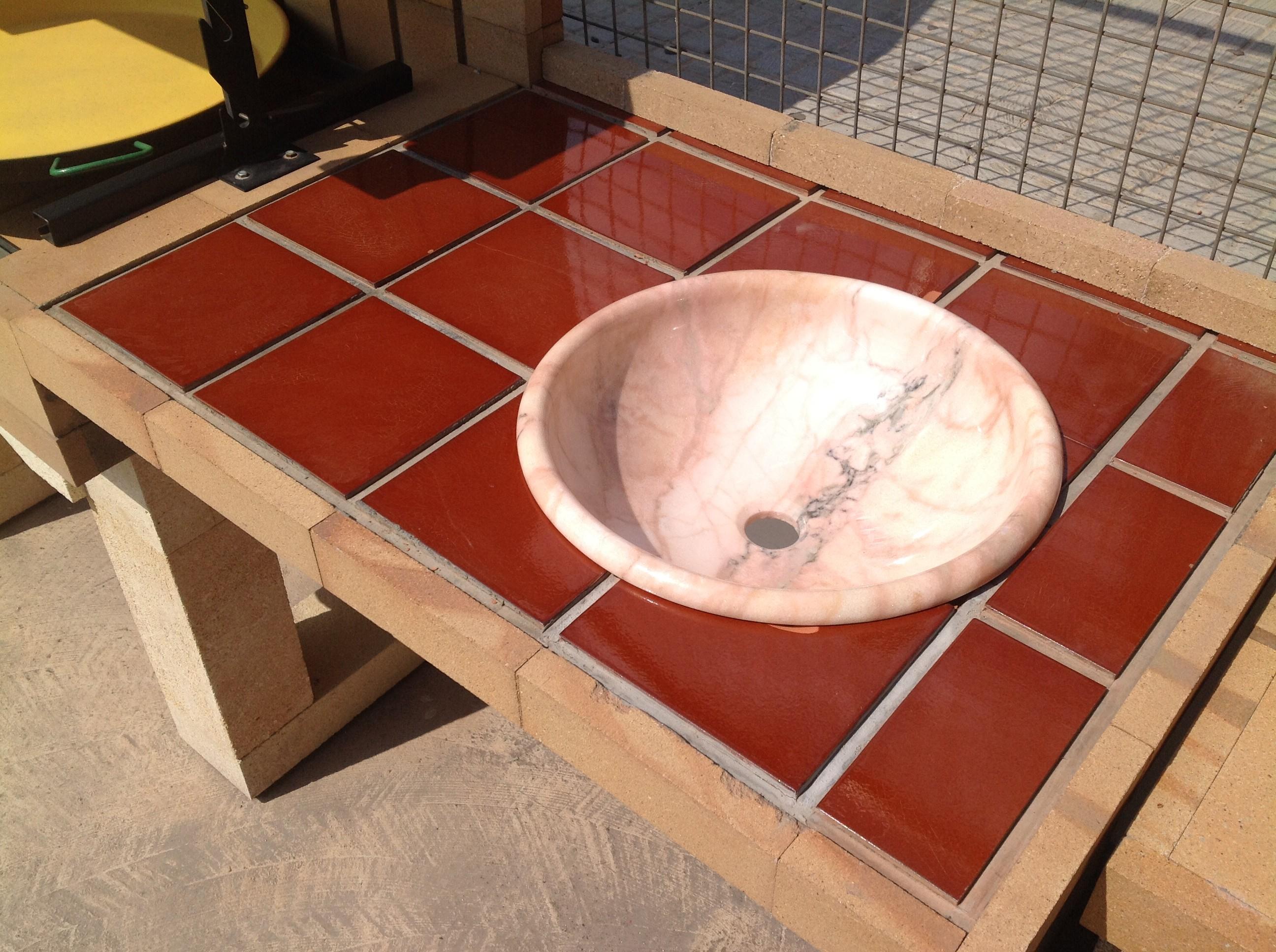 Detalle pila azulejo refractario chimeneas s nchez - Azulejos refractarios ...